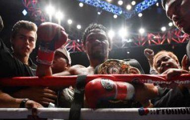 Manny Pacquiao ganó por KO en el séptimo asalto a Lucas Matthysse para proclamarse campeón WBA regular del peso welter. El filipino se exhibió.