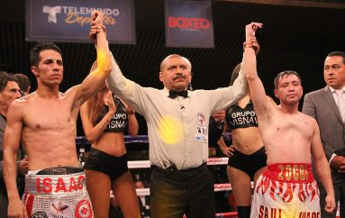 Vibrante empate entre Juárez y Andrade en Boxeo Telemundo CDMX