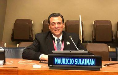 MAURICIO SULAIMÁN WBC EN LA SEDE DE LAS NACIONES UNIDAS DE NUEVA YORK