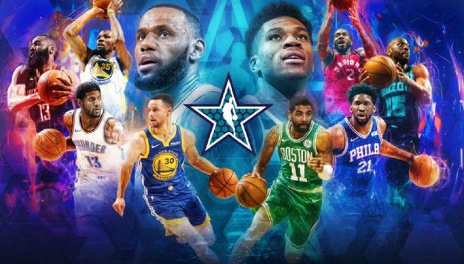 Equipo Lebron VS Equipo Antetokounmpo en la fiesta de la NBA
