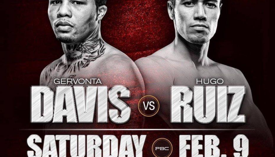 HUGO RUIZ VS GERVONTA DAVIS, POR EL TÍTULO MUNDIAL SUPERPLUMA WBA.