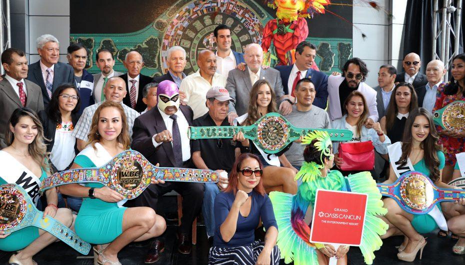 WBC EN LA PRESENTACIÓN DEL CINTURÓN MAYA PARA CANELO-JACOBS