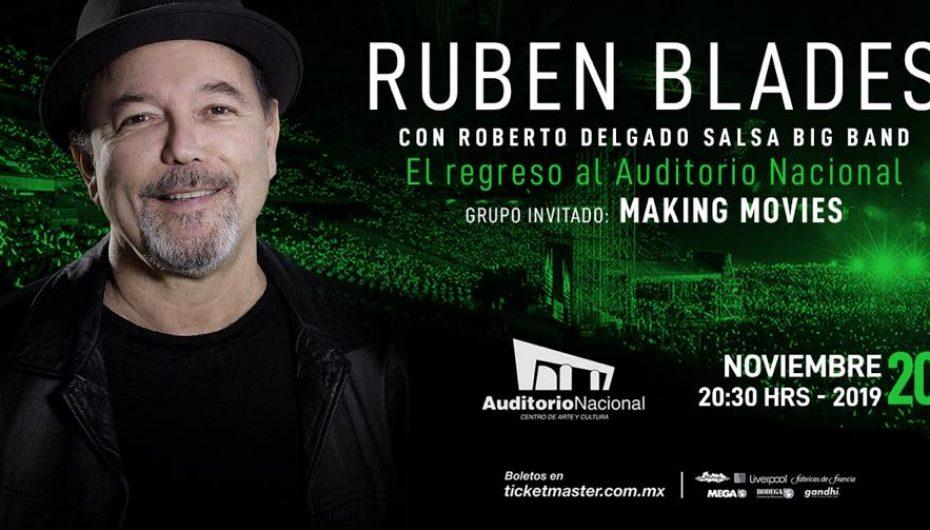 RUBEN BLADES CON ROBERTO DELGADO SALSA BIG BAND REGRESA A MÉXICO CON TODOS SUS ÉXITOS