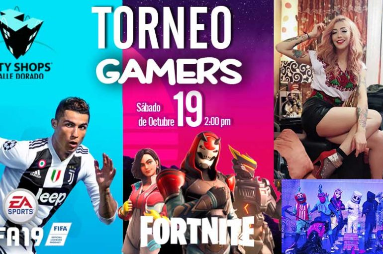 LLEVARÁN TORNEO DE GAMERS FIFA 2019 Y DE FORTNITE A CITY SHOPS VALLE DORADO