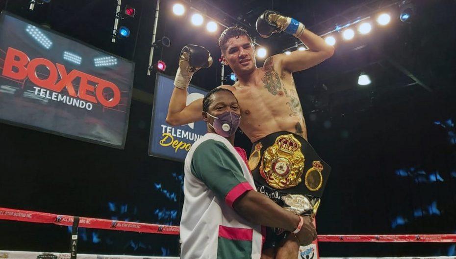 Antonio Morán, nuevo Campeón Fedecentro de peso welter WBA.