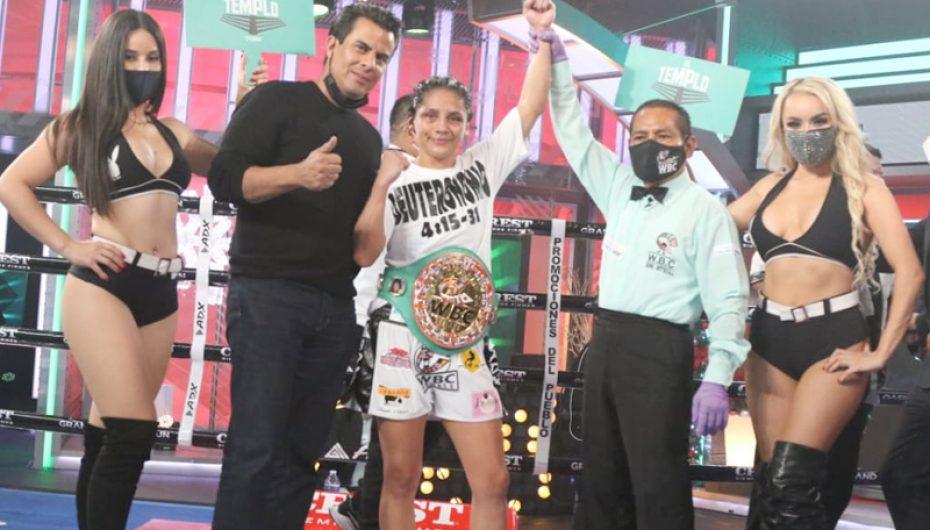 LOURDES JUÁREZ CAMPEONA MUNDIAL SUPERMOSCA WBC.