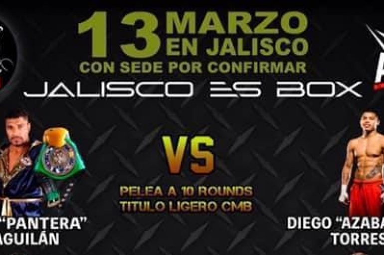 "Nery ""Pantera"" Saguilán y Diego ""Azabache"" Torres disputan título WBC en Magdalena, Jalisco"