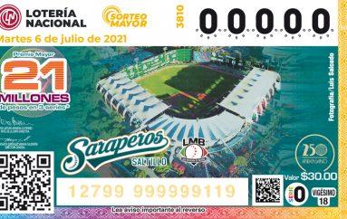 Los Saraperos de Saltillo Festejan sus 50 años en Billetes de Lotería !!!