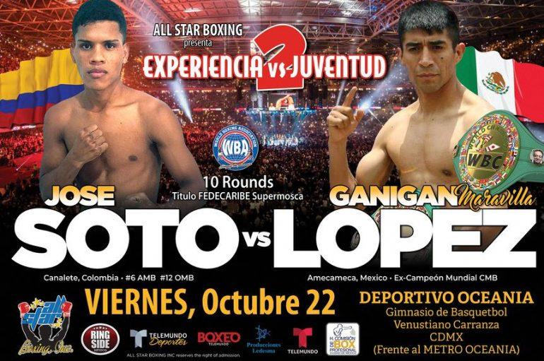 Soto arriesga el invicto ante López en México.